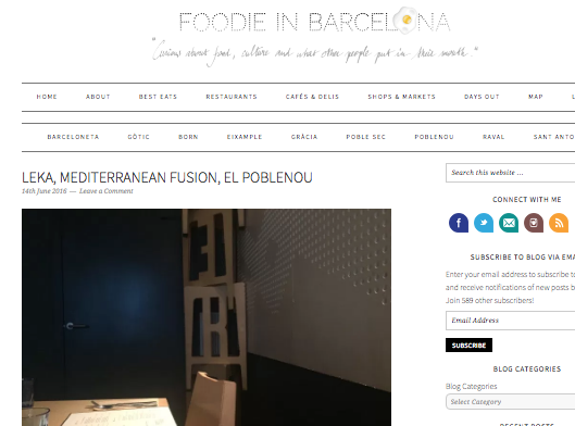 Foodie in barcelona