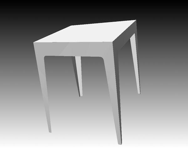 Mesa de dos mesa-de-dos
